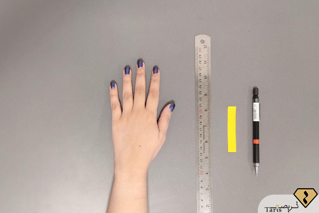 مرحله اول پیدا کردن سایز انگشتر