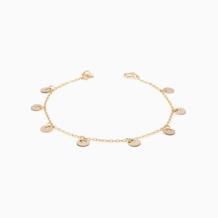 پابند طلا 18 عیار دخترانه مدل AL0002