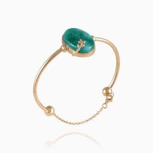 دستبند طلا 18 عیار زنانه عقیق مدل BL0001