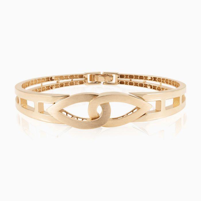 دستبند النگویی طلا 18 عیار زنانه مدل BL0002