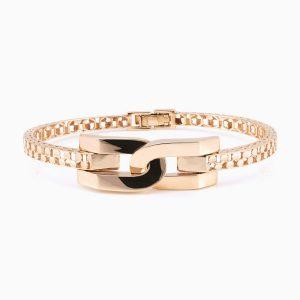 دستبند طلا 18 عیار زنانه مدل ساعتی کد BL0003