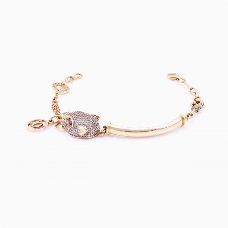 دستبند ساعتي طلا 18 عيار زنانه مدل BL0004