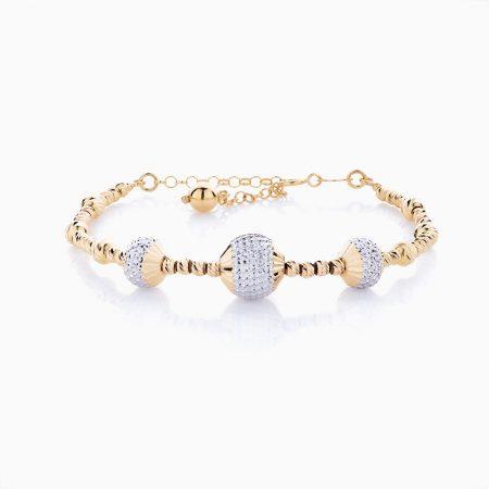 دستبند طلا 18 عیار زنانه مدل BL0032