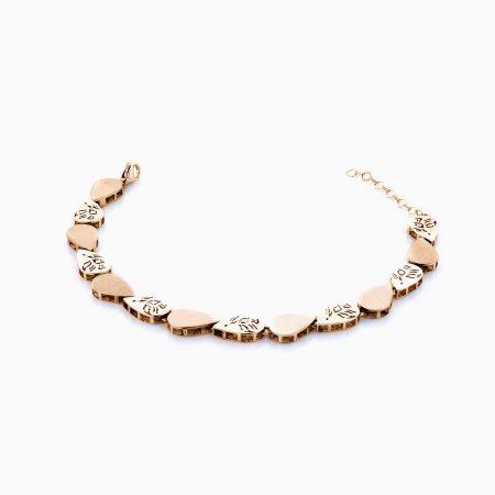 دستبند طلا 18 عیار زنانه مدل BL0035