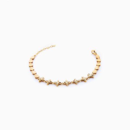 دستبند طلا 18 عیار زنانه مدل BL0039