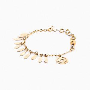 دستبند طلا 18 عیار زنانه مدل BL0051