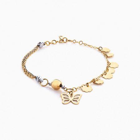 دستبند طلا 18 عیار مدل BL0056
