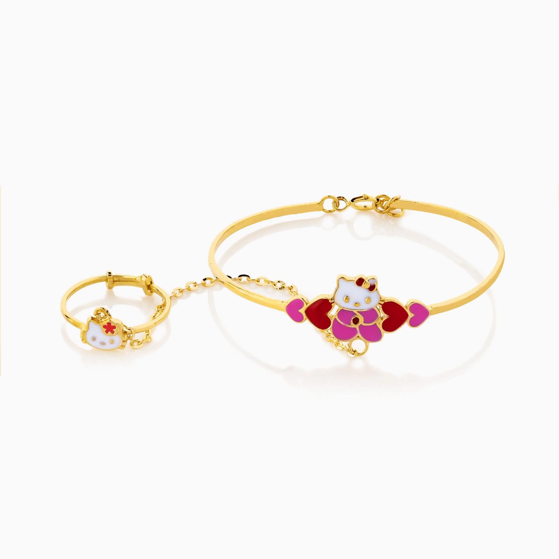دستبند طلا 18 عیار بچهگانه BL0060