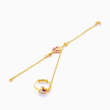 دستبند تميمه طلا 18 عيار بچهگانه BL0063