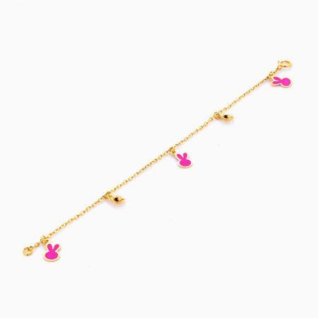 دستبند طلا 18 عيار بچهگانه BL0064