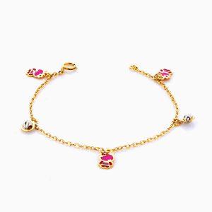 دستبند طلا 18 عيار بچهگانه BL0065