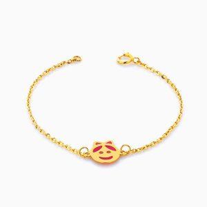 دستبند طلا 18 عیار بچه گانه مدل عروسکی کد BL0066