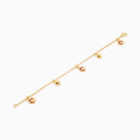 دستبند طلا 18 عیار بچه گانه مدل کبوتر کد BL0068
