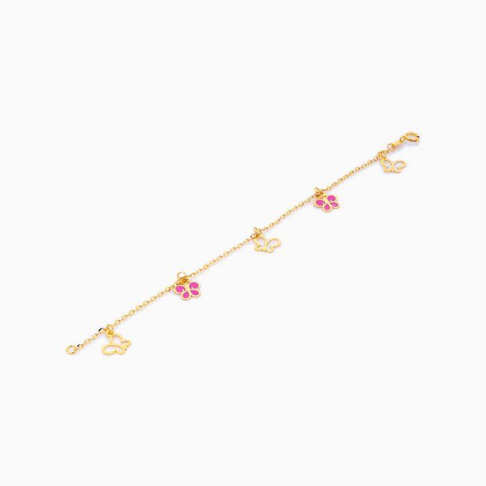 دستبند طلا 18 عيار بچهگانه BL0069