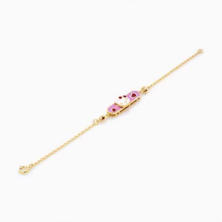 دستبند طلا 18 عیار بچهگانه BL0072