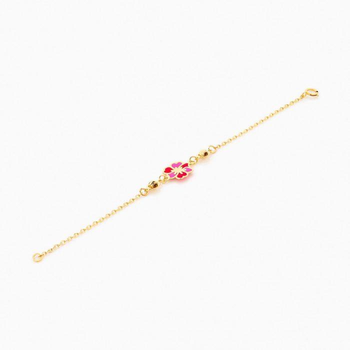 دستبند طلا 18 عیار بچهگانه BL0073