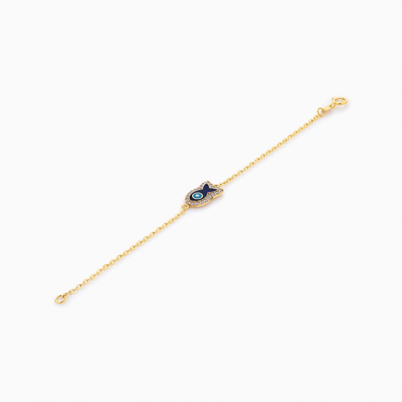 دستبند طلا 18 عیار بچهگانه BL0074