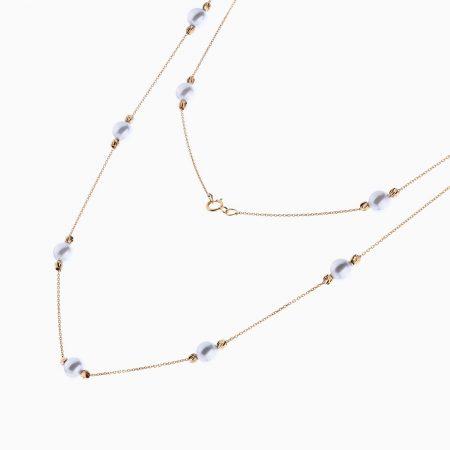 گردنبند طلا 18 عیار زنانه مدل NL0002