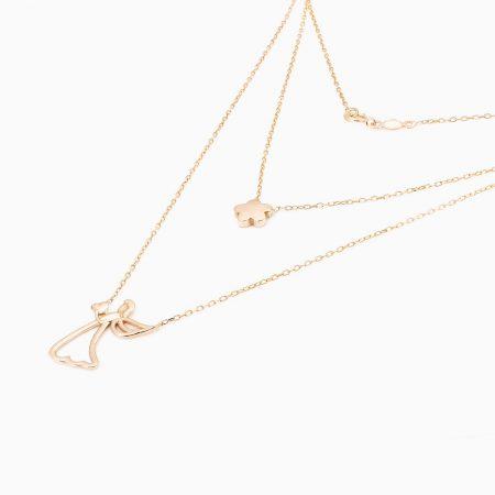 گردنبند طلا 18 عیار فانتزی مدل NL0004