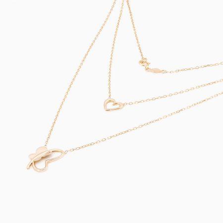 گردنبند طلا 18 عیار فانتزی مدل NL0005