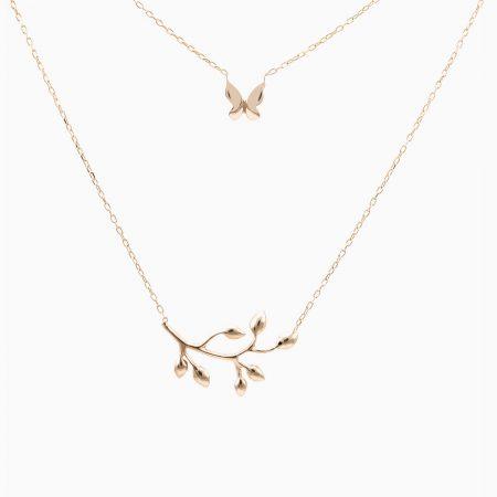 گردنبند طلا 18 عیار زنانه مدل NL0006