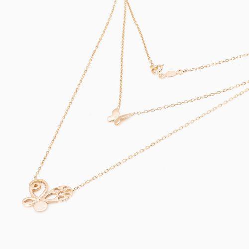 گردنبند طلا 18 عیار زنانه مدل NL0007