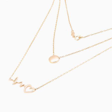 گردنبند طلا 18 عیار زنانه مدل NL0008