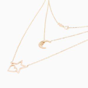 گردنبند طلا 18 عیار زنانه مدل NL0009