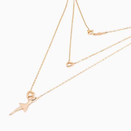 گردنبند طلا 18 عیار زنانه مدل NL0010