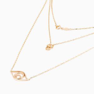 گردنبند طلا 18 عیار زنانه مدل NL0011