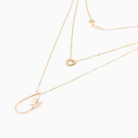 گردنبند طلا 18 عیار زنانه مدل NL0012