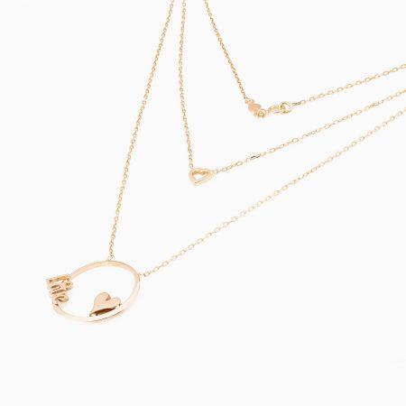 گردنبند طلا 18 عیار زنانه مدل NL0014