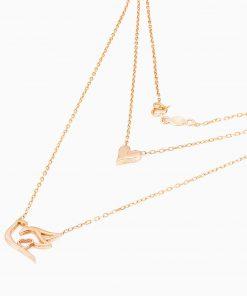 گردنبند طلا 18 عیار زنانه مدل NL0015