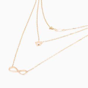گردنبند طلا 18 عیار زنانه مدل NL0016