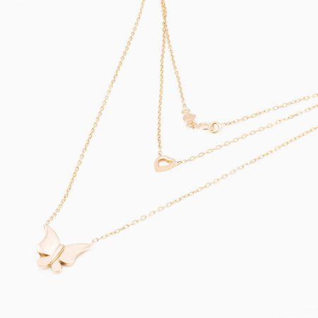 گردنبند طلا 18 عیار زنانه مدل NL0017