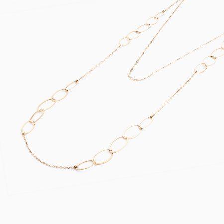گردنبند طلا 18 عیار زنانه مدل NL0019
