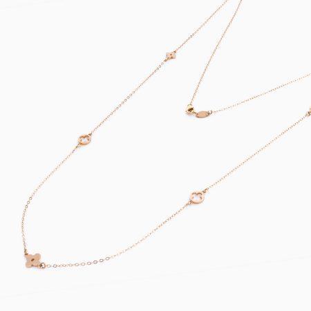 گردنبند طلا 18 عیار زنانه مدل NL0020