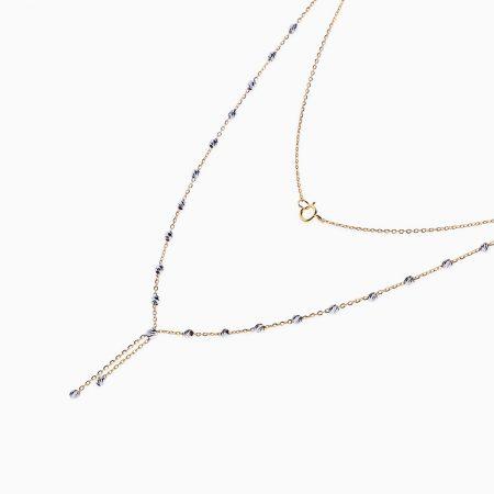 گردنبند طلا 18 عیار زنانه مدل NL0022