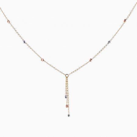 گردنبند طلا 18 عیار زنانه مدل NL0023