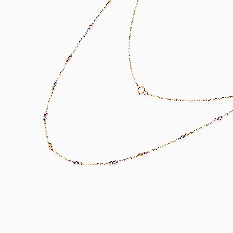 گردنبند طلا 18 عیار زنانه مدل NL0025