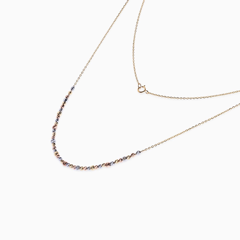 گردنبند طلا 18 عیار زنانه مدل NL0028