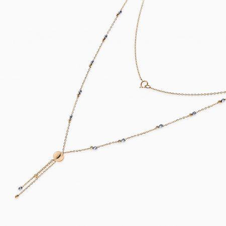 گردنبند طلا 18 عیار زنانه مدل NL0029