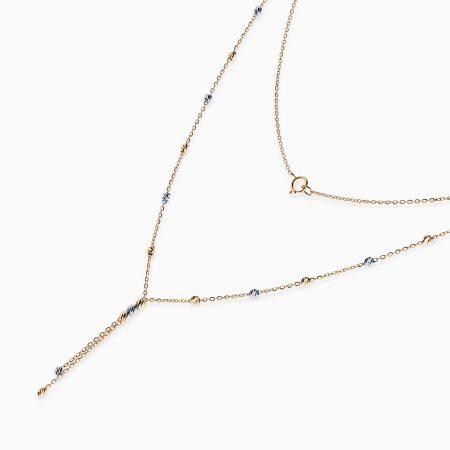 گردنبند طلا 18 عیار زنانه مدل NL0031