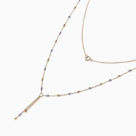 گردنبند طلا 18 عیار زنانه مدل NL0032