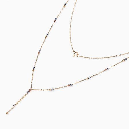 گردنبند طلا 18 عیار زنانه مدل NL0033