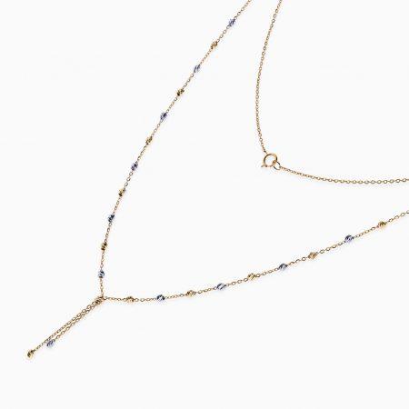 گردنبند طلا 18 عیار زنانه مدل NL0035