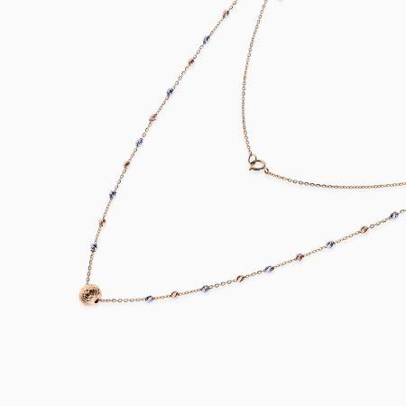 گردنبند طلا 18 عیار زنانه مدل NL0036