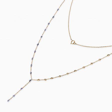 گردنبند طلا 18 عیار زنانه مدل NL0038