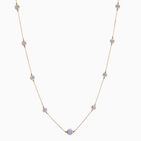 گردنبند طلا 18 عیار زنانه مدل NL0048