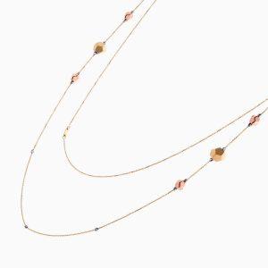 گردنبند طلا 18 عیار زنانه مدل NL0049